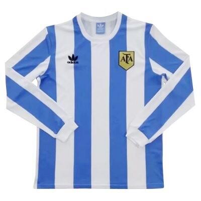 1978 Argentina Home Long Sleeve Retro Jersey