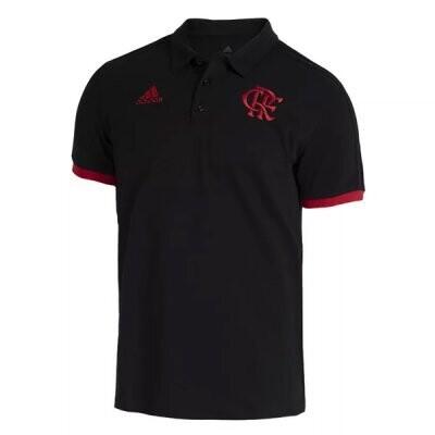 21-22 Flamengo Black Polo Shirt