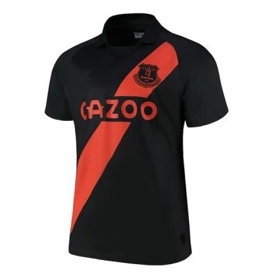 Everton Away Black Soccer Jersey Shirt 21/22