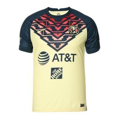 21-22 Club America Yellow Home Jersey