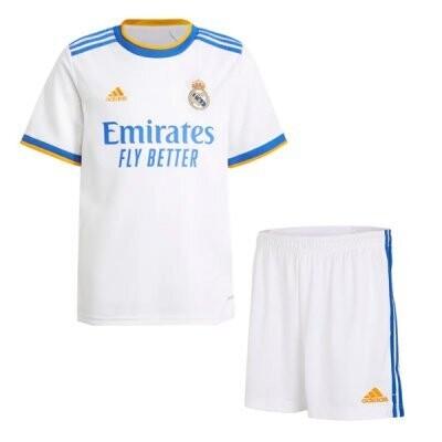 21-22 Real Madrid Home Kids Kit