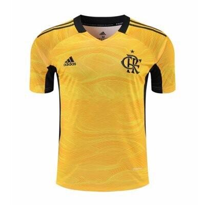 21-22 Flamengo Yellow Goalkeeper Jersey