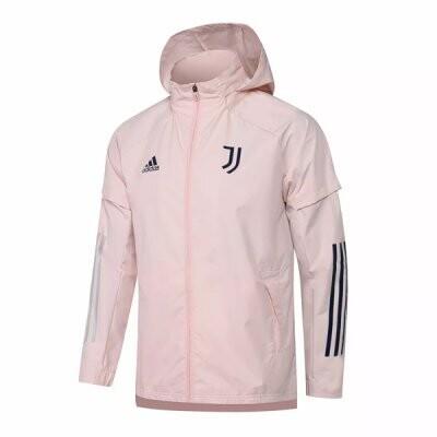 Juventus Pink Windrunner Hoodie Jacket 21-22