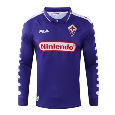 1998-1999 Fiorentina Home Long Sleeve Retro Football Shirt
