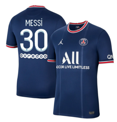PSG Home Messi #30 Ligue 1 Jersey