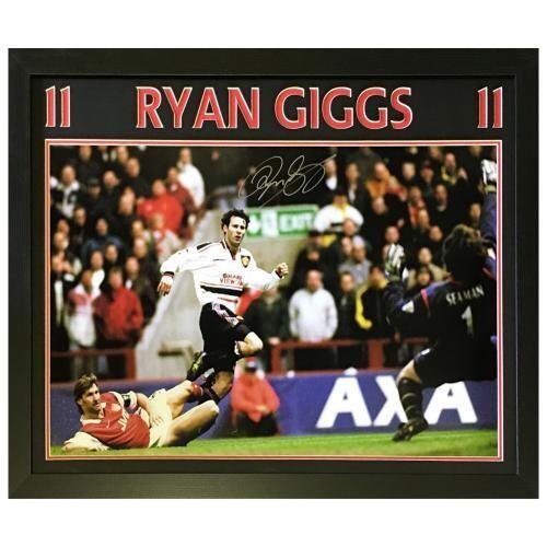 Manchester United FC Giggs Signed Framed Print
