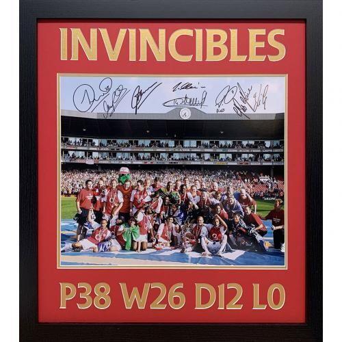 Arsenal FC Invincible Season Signed Framed Print