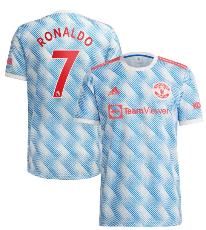 Manchester United Away EPL Print RONALDO #7