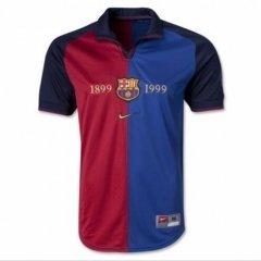 1999-2000 Barcelona Retro Home 100-Years Anniversary Soccer Jersey Shirt (Replica)