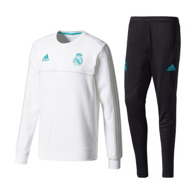 Adidas Real Madrid White Round Neck Training Suit 2018