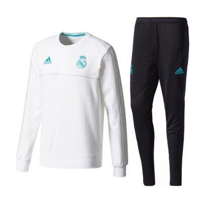 Adidas Real Madrid White Round Neck Training Suit 2018