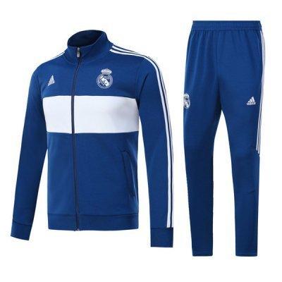 Adidas Real Madrid Blue White Round Training Suit 2018