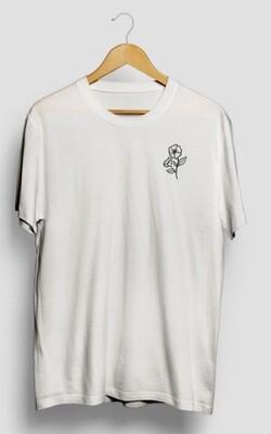 NEW! White T-shirt, logo
