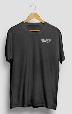 NEW! Grey T-shirt, text + logo