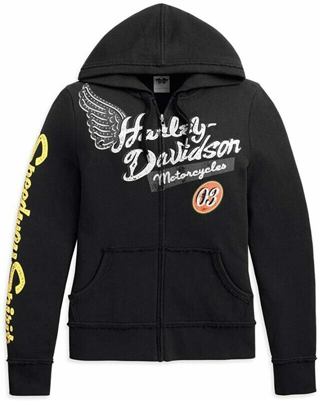 Hoodies pour Femme Harley-Davidson® Speedway Spirit Noir 96363-13VW