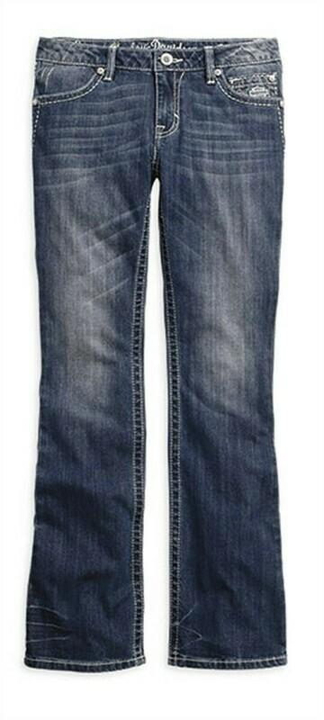 Jean Taille Moyenne et Moulante pour Femme Harley-Davidson® BOOT CUT 99174-16VW