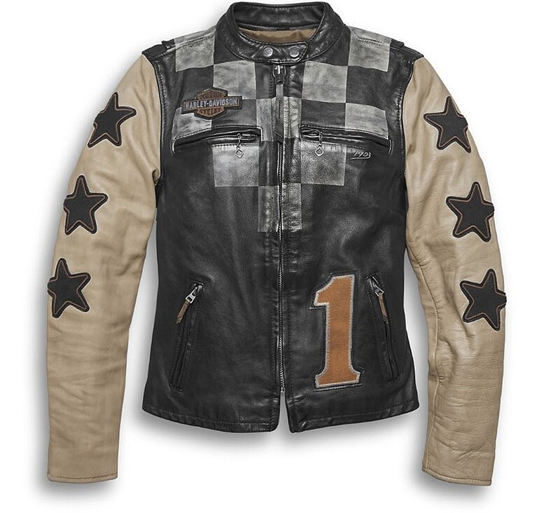 Manteau de cuir pour Femme Harley-Davidson® Décontracté de style Course et Vintage 97003-20VW