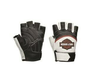 Gants en Cuir Sans Doigt pour Femme Harley-Davidson® Whistler Blanc 98167-18VW
