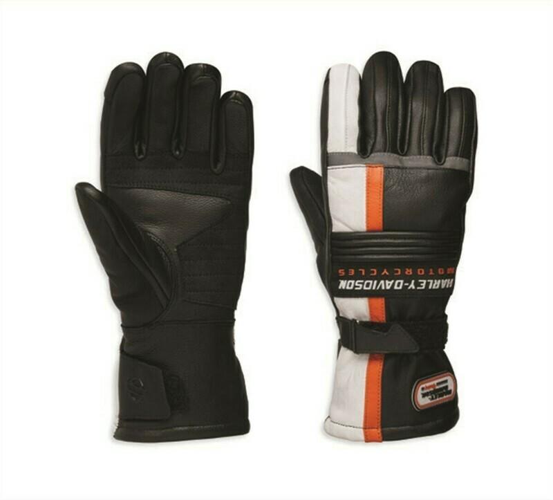 Gants en Cuir pour Femme Harley-Davidson® Spark Gauntlet Blanc et Noir 98325-19VW