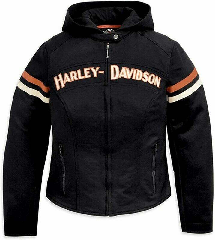 Manteau pour Femme Harley-Davidson® Miss Enthusiast 3 en 1 Cordura & Polyester Noir 98499-11VW