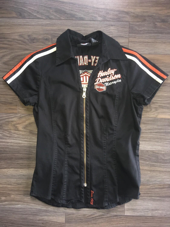 Chemise à Manches Courtes pour Femme Harley-Davidson® collection Prestige Coton & Spandex  99089-09VW