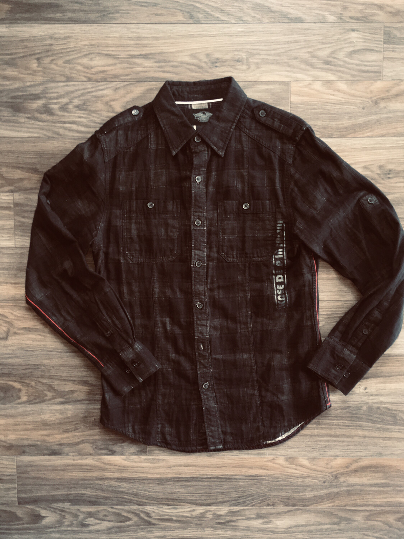 Chemise à Manches Longues pour Homme Harley-Davidson® Noir 96478-13VM