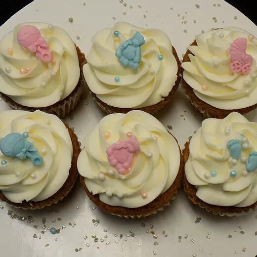 12 Cupcakes- Baby/Gender Reveal
