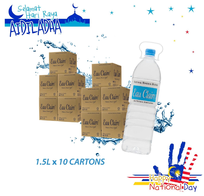 EAU CLAIRE 1.5L x 10 cartons