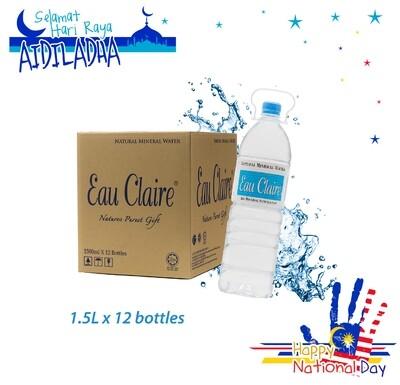 EAU CLAIRE 1.5L x 12 bottles