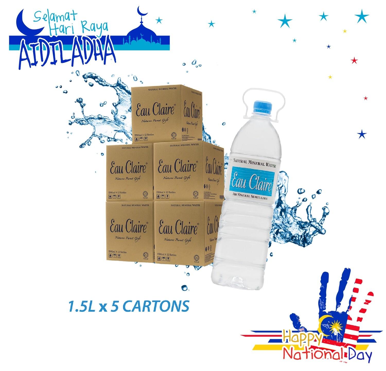 EAU CLAIRE 1.5L x 5 cartons