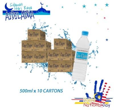 EAU CLAIRE 500ml x 10 cartons