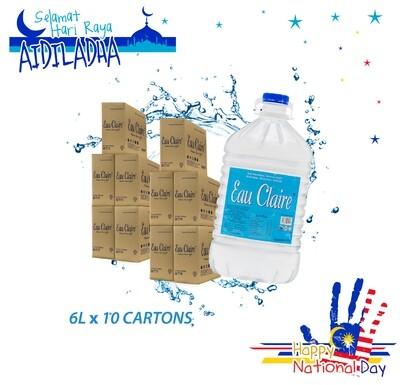 EAU CLAIRE 6L x 10 cartons