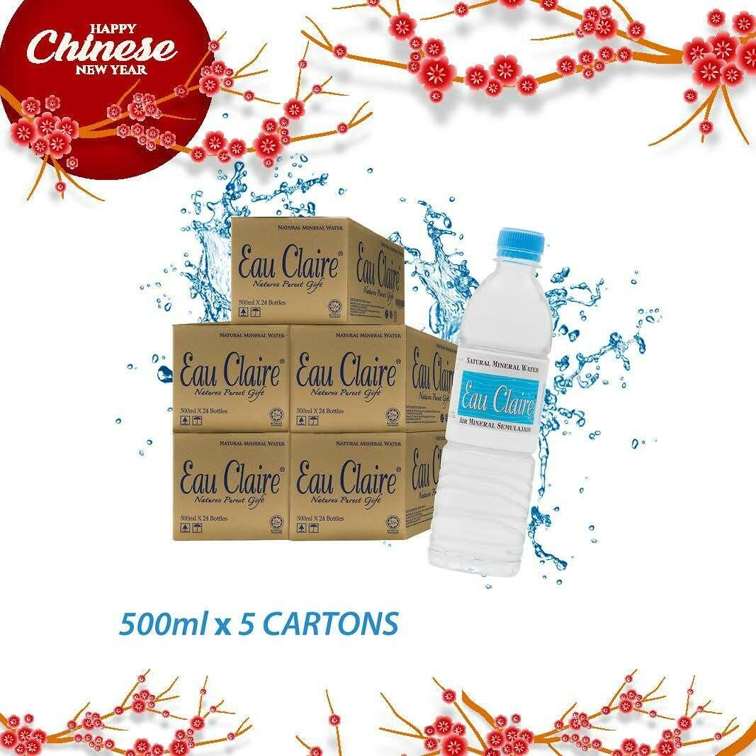 EAU CLAIRE 500ml x 5 cartons