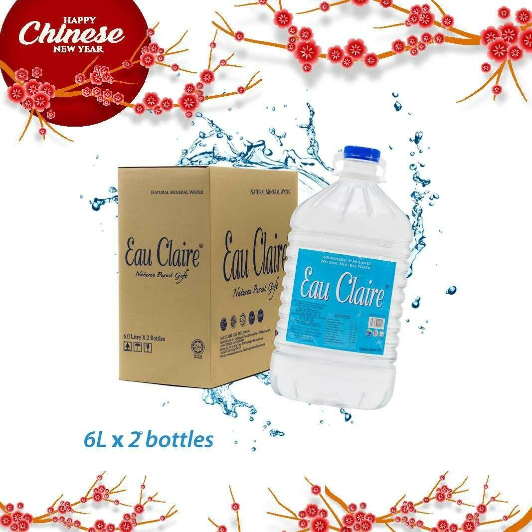 EAU CLAIRE 6L x 2 bottles