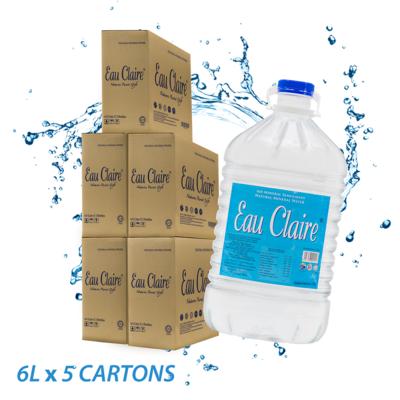 EAU CLAIRE 6L x 5 cartons
