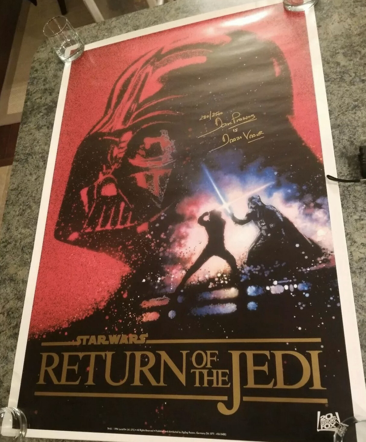 27x41 POSTER SIGNED BY DAVE PROWSE