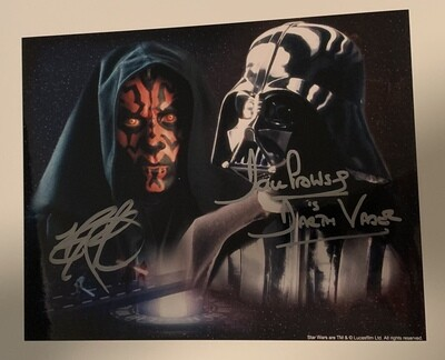 8X10 PHOTO SIGNED BY DAVE PROWSE AND RAY PARK