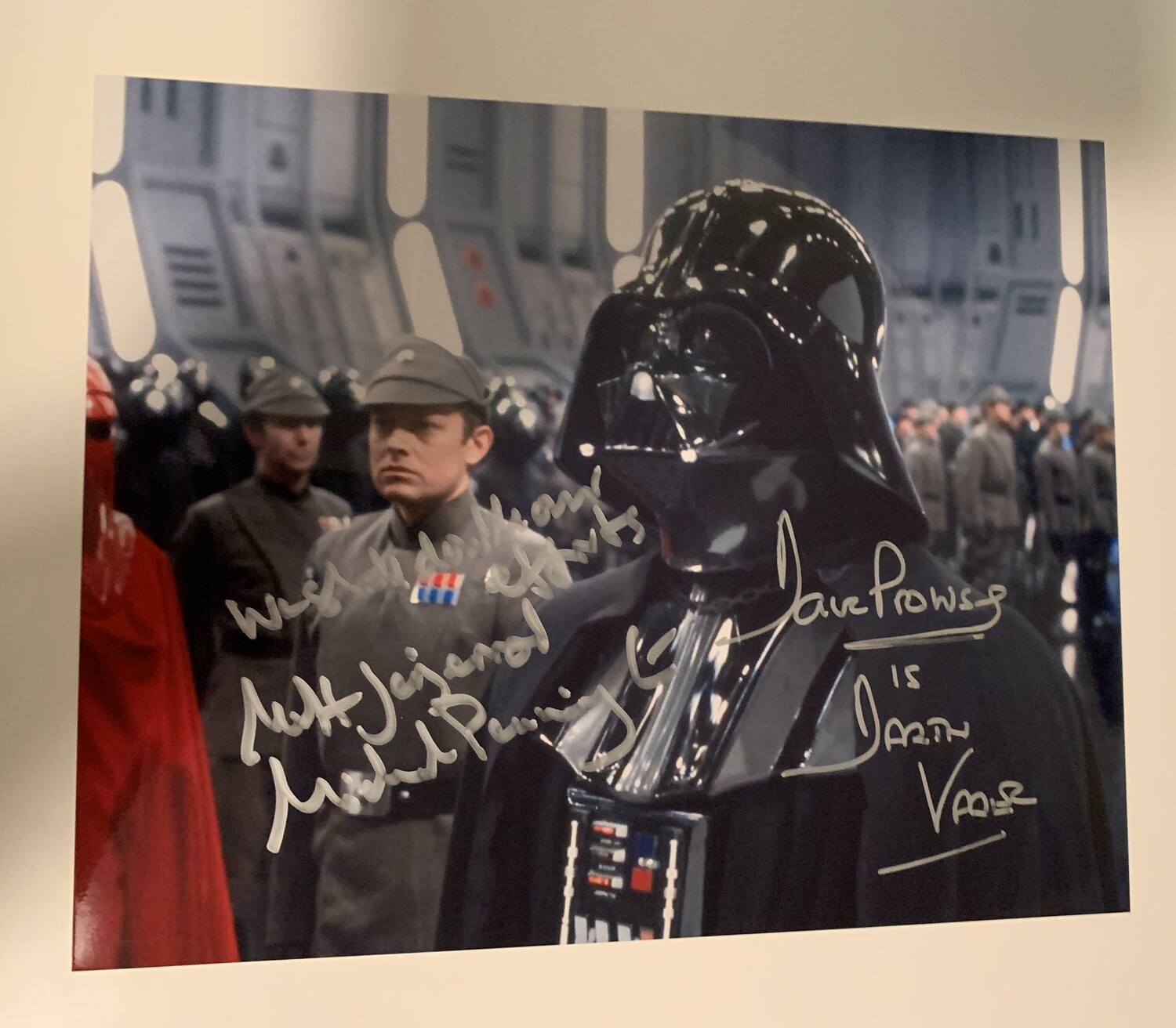 8X10 PHOTO SIGNED BY DAVE PROWSE AND MICHAEL PENNINGTON