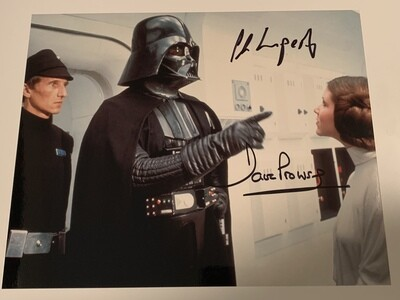 8X10 PHOTO SIGNED BY DAVE PROWSE AND AL LAMPERT