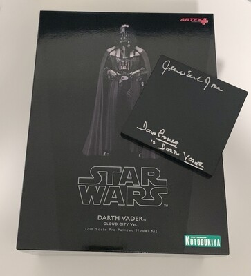 DOUBLE SIGNED KOTOBUKIYA DARTH VADER FIGURE
