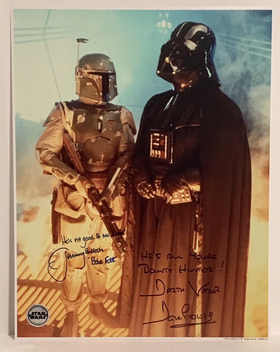 11X14 STAR WARS PHOTO SIGNED BY DAVE PROWSE AND JEREMY BULLOCH