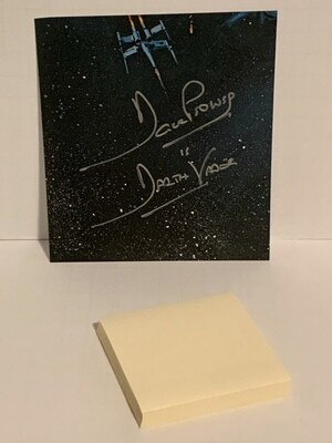DAVE PROWSE DARTH VADER CUT SIGNATURE