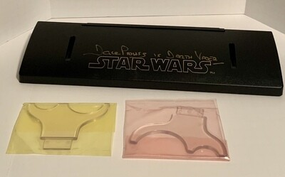 SIGNED DARTH VADER LIGHTSABER DISPLAY STAND