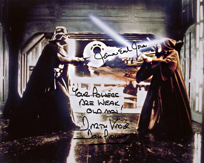8X10 PHOTO SIGNED BY DAVE PROWSE AND JAMES EARL JONES