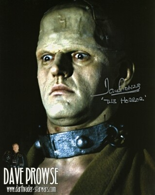 8X10 HORROR OF FRANKENSTEIN PHOTO SIGNED BY DAVE PROWSE