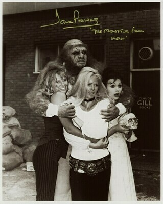 8X10 MONSTER FROM HELL PHOTO SIGNED BY DAVE PROWSE