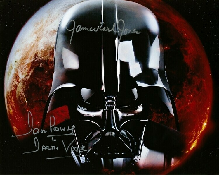 STAR WARS 8X10 SIGNED BY DAVE PROWSE AND JAMES EARL JONES
