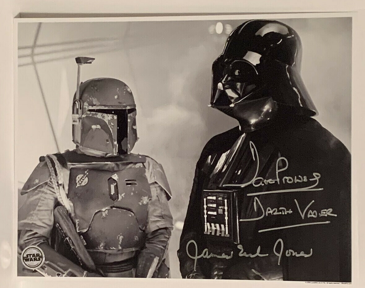 STAR WARS 11X14 SIGNED BY DAVE PROWSE AND JAMES EARL JONES