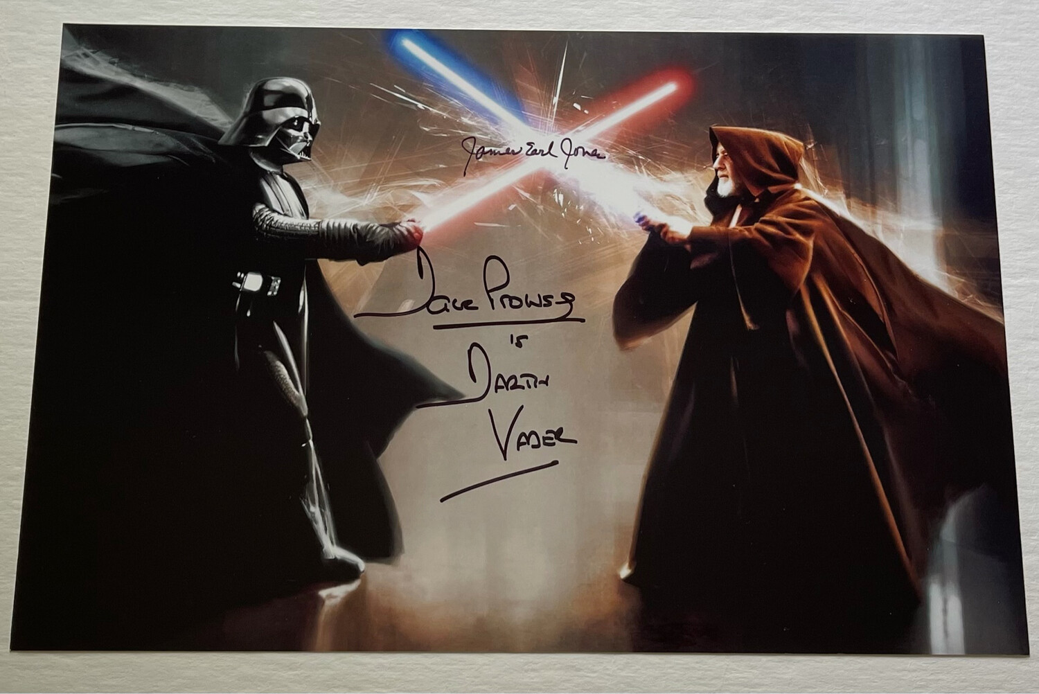 8X12 PHOTO SIGNED BY DAVE PROWSE AND JAMES EARL JONES