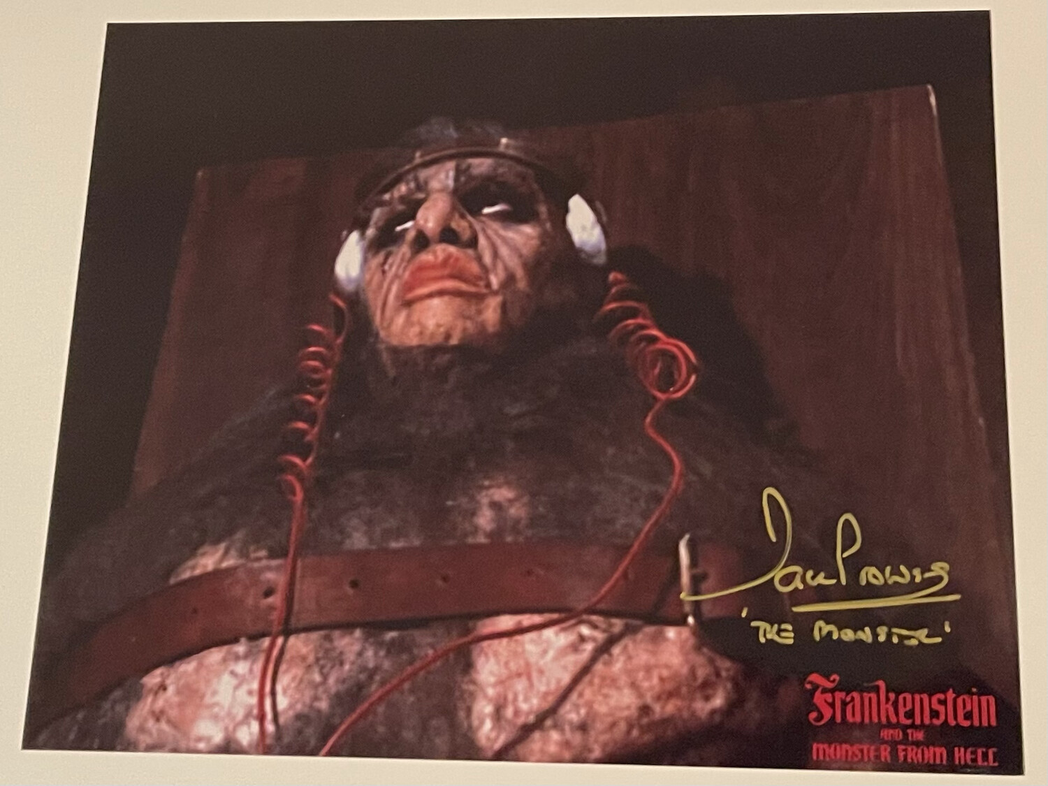 8X10 PHOTO SIGNED BY DAVE PROWSE